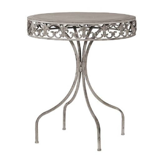 Grey Round Metal Table